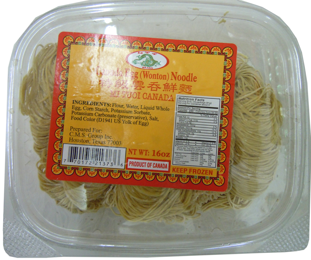 MTT Canada Egg (Wonton) Noodles