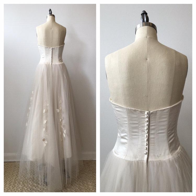 SALE | Was 1550 ~ Vintage Bridal Modern duchess silk satin wedding ...
