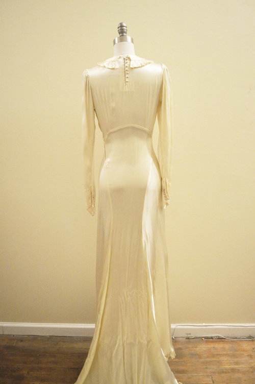 Vintage Bridal 1930\'s Bias cut charmeuse wedding gown — Miranda\'s ...