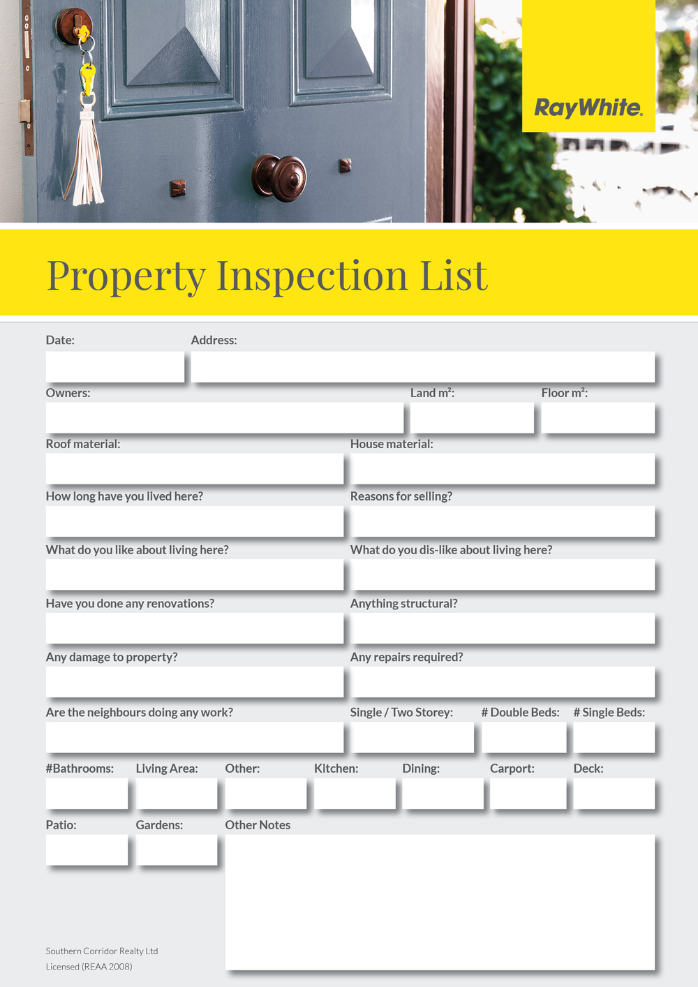 Property Inspection List