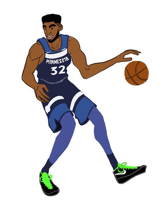 Karl Anthony Towns. . . . #draw #drawing #digital #sketch #art #illustration #ipad #procreate #minnesota #wolves #timberwolves #basketball #nba #minnesotatimberwolves