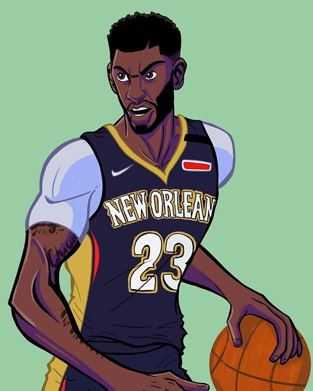 This one is of Anthony Davis (@antdavis23). Love watching him play. Had a lot of fun with this one. It was all drawn on an iPad during the commute to work on the train over a week or so. . . . #draw #drawing #digitalart #sketch #art #illustration #ipad #procreate #anthonydavis #neworeleans #pelicans #nba #basketball