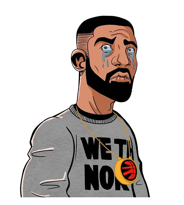 Crying Drake. Another sad NBA season for Raptors fans. . . . #drake #toronto #medallion #raptors#torontoraptors #wethenorth #crying #nba #basketball #music #draw #drawing #digital #sketch #art #illustration #ipad #procreate