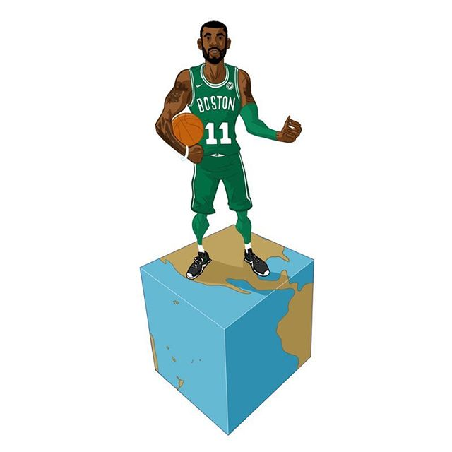 Kyrie Irving. Flat earth. . . . . #KyrieIrving #kyrie #boston #bostonceltics #celtics #uncledrew #flatearth #conspiracytheories #nike #nba #basketball #draw #drawing #digital #sketch #art #illustration #ipad