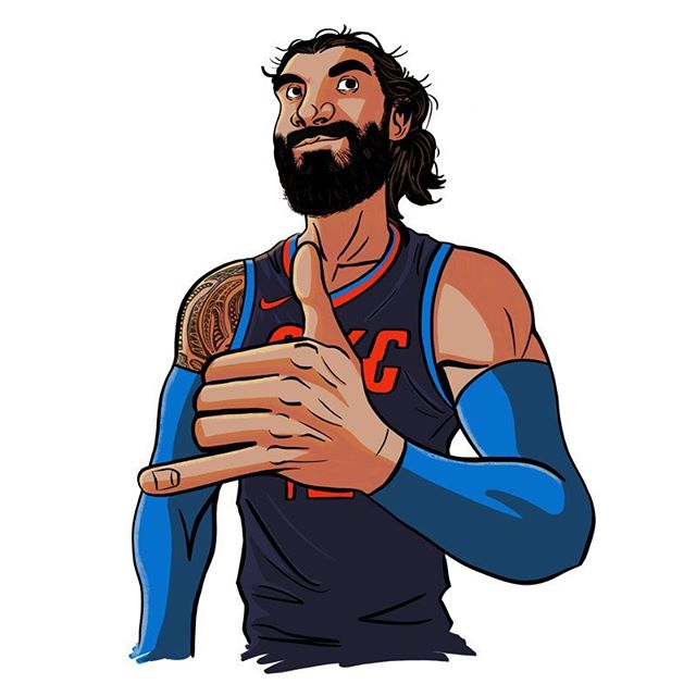 Good luck to @stevenadams and the Oklahoma City Thunder for their first game against Portland in the playoffs tomorrow. Here's some fan art. . . . #StevenAdams #Adams #OKC #Thunder #oklahomacitythunder #oklahoma #thunderup #nbaplayoffs #playoffs #newzealand #nba #basketball #draw #drawing #digital #sketch #art #illustration #ipad #procreate