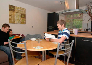 Each house has a modern fully fitted kitchen with washer/dryer machines, sofas, table and chairs. TV/DVDs.