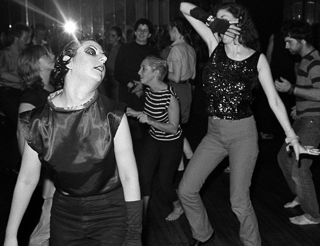 Crowd at the dancefloor of Hurrah, 1979. Photograph by Bill Bernstein.