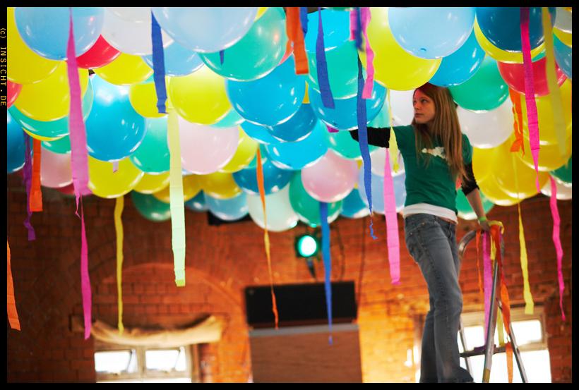 Lucky Cloud party set-up, 2007. Photo by Tomas Borbáshttp://www.insicht.de/