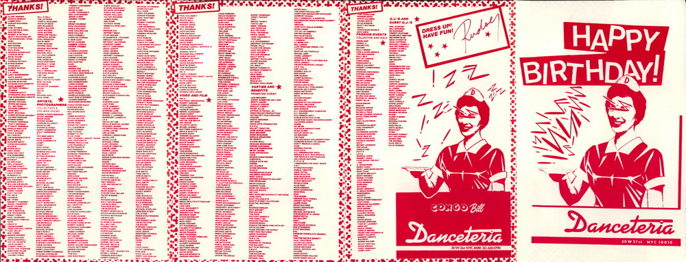 Danceteria publicity. Courtesy of John Argento.