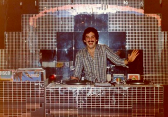 Mark Kamins DJing pre-Danceteria. (At Danceteria he was asked to shave off his moustache.)