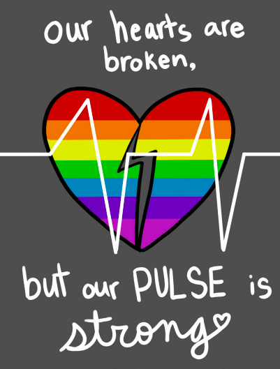 Figure 5: Pulse's post-massacre flyer. Art by  Meghan McDunnah