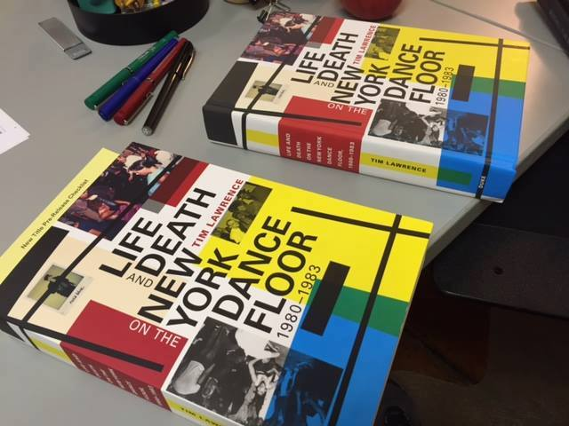 Patty Chase 's snap of the test run of the book. The pens, which just so happen to match the colours on the cover, are scattered in a very strategic kind of way. Classy as ever from Duke UP and to my amazement the pic went viral.