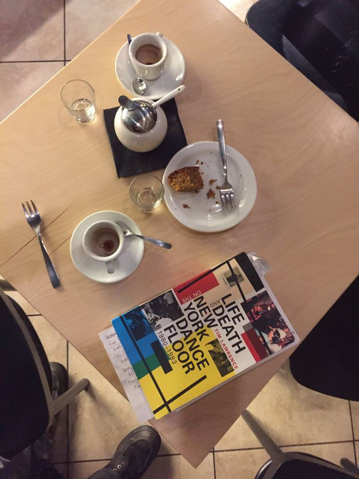 Getting ready at a cafe in Vilnius.  LikeCommentShare Comments .jpg