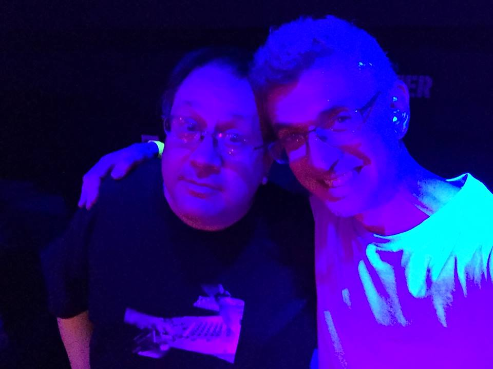Bruce Forest and me at Better Days : Analog. Bruce tore up the floor..jpg
