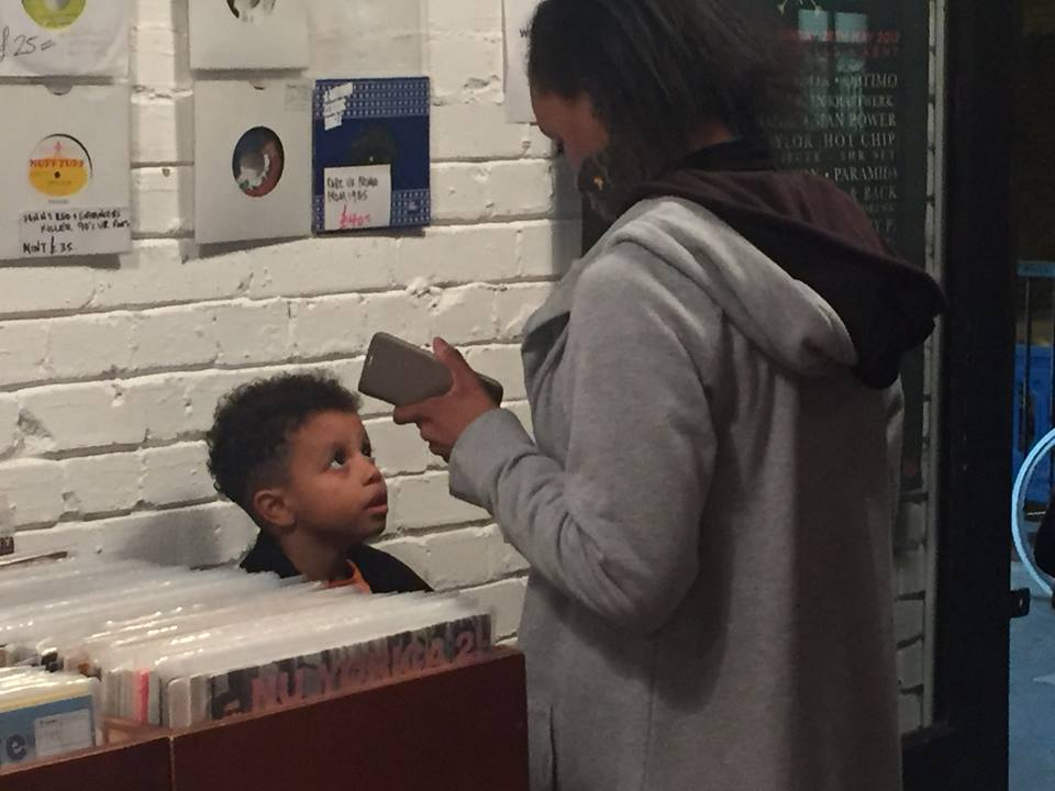 Inter-generational listening at Love Vinyl....jpg