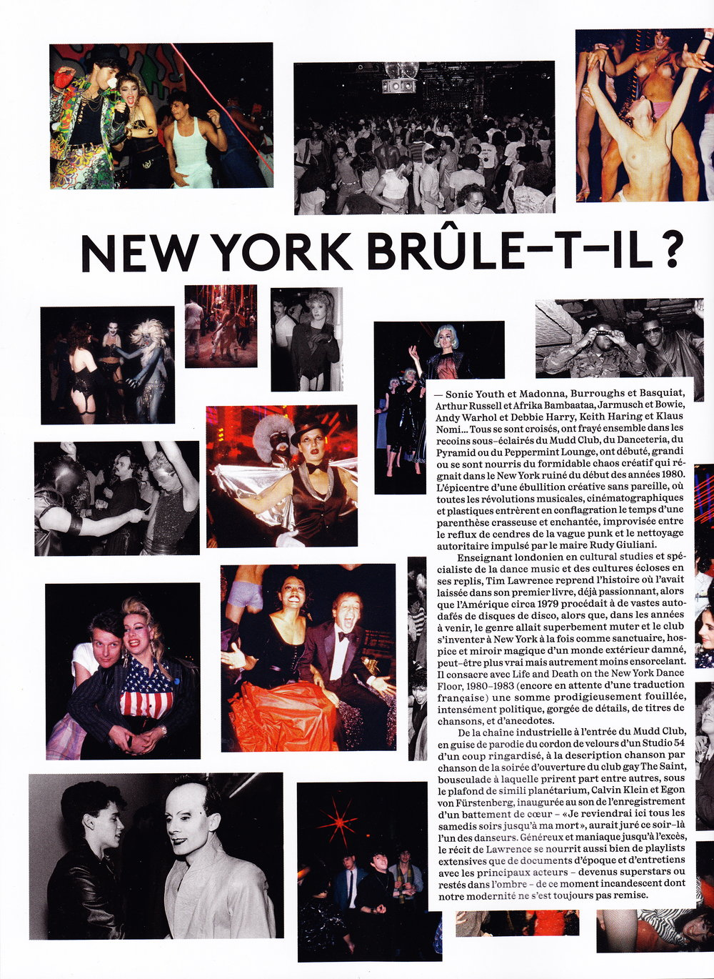 71d00373 In Feature, Interview Tags Vogue, Vogue Hommes, Tim Lawrence, Print,  Interview, New York
