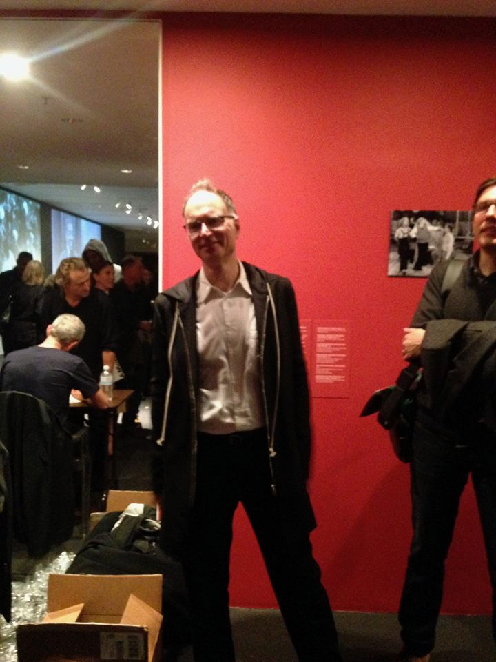 My editor, Ken Wissoker, at the MoMA book launch. Ken stuck by shoulder for most of the signing. He's been a very friendly minder through the NYC tour. I can't thank Ken enough for his support as I've headed off on this somewhat surreal 19-year, 3-book, 500,000-word detour, having originally signed a contract to write a history of house music beginning in mid-80s Chicago and NYC….