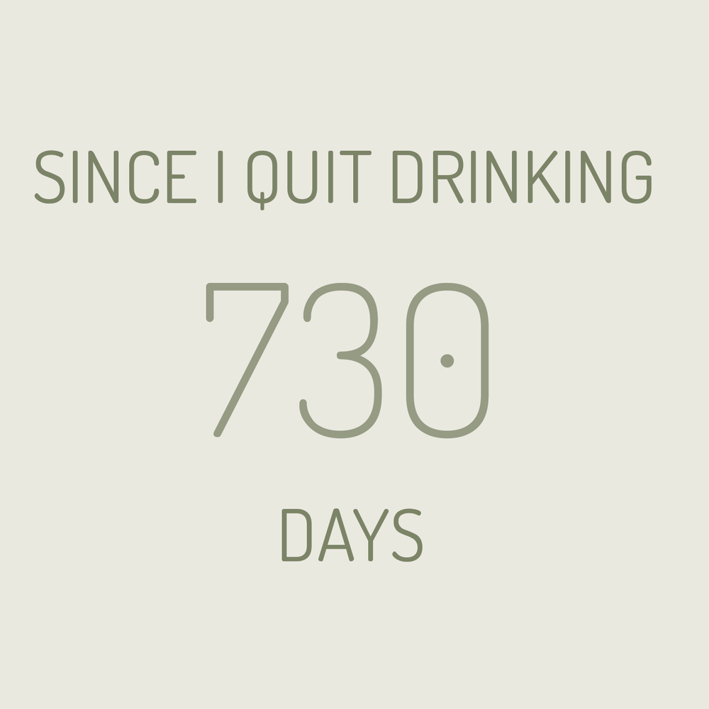 two year soberversary