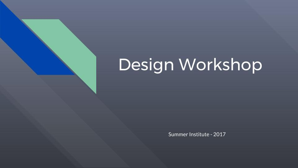 Session 1: Design Intro   Basic Concepts & Visioning