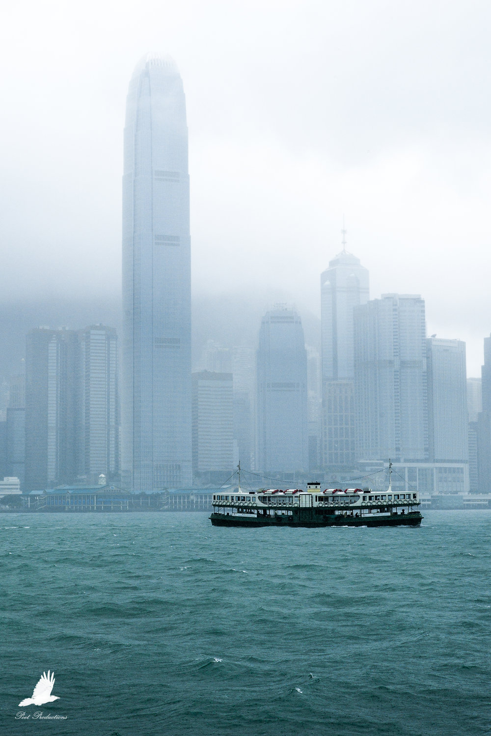 The Typhoon eases at Victoria Harbour