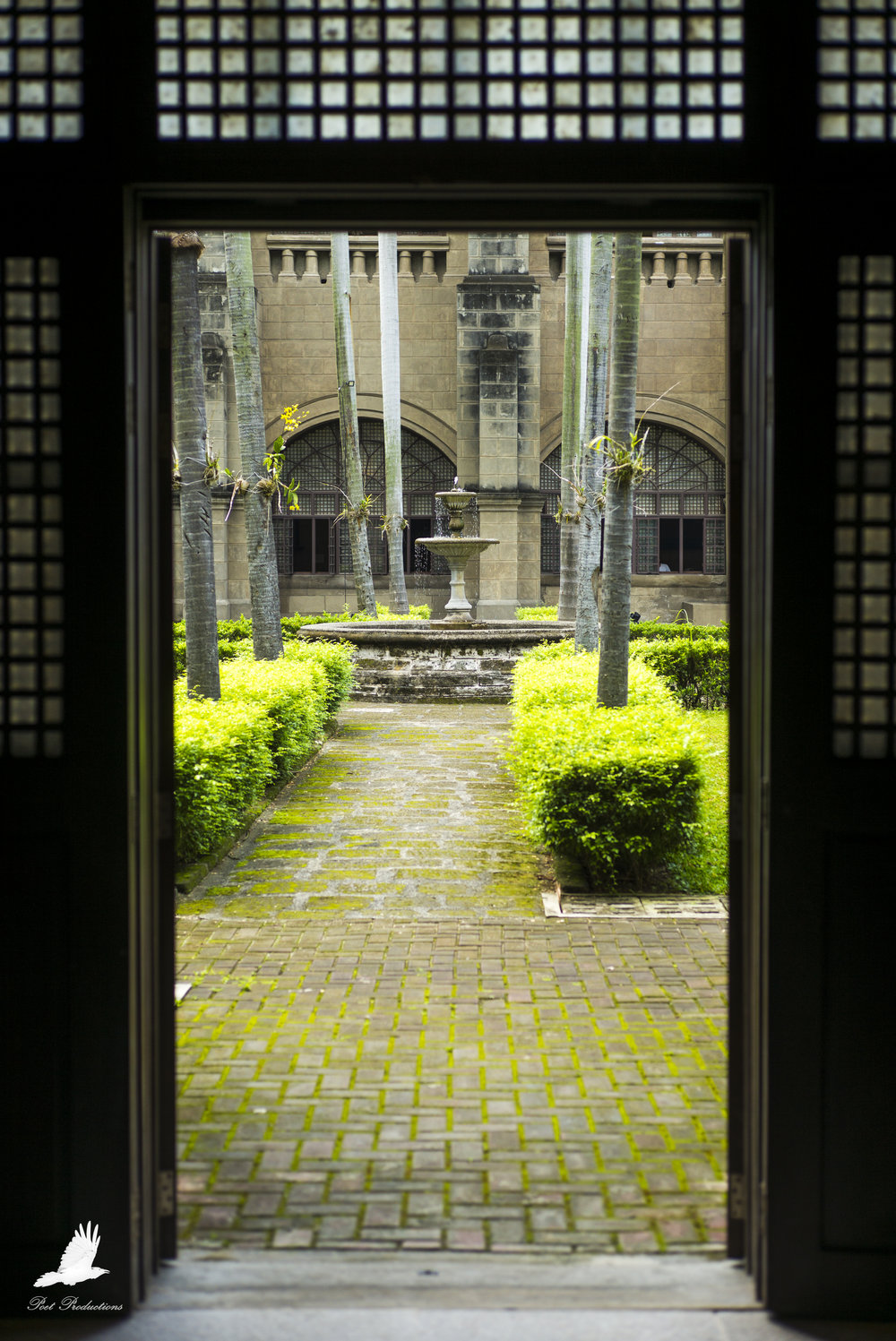 San Agustin Church (the second oldest church in Philippines) - rear courtyard
