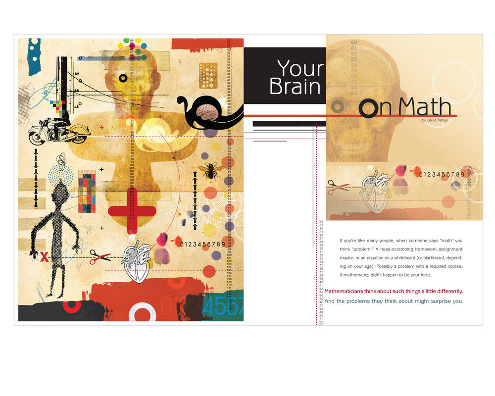 Feature about how math can interpret & give insight in our daily lives. Illustration by Walter Vasconcelos.