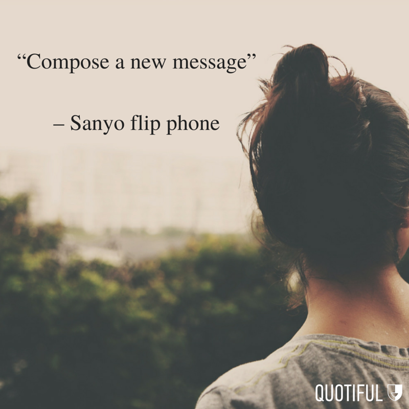 """Compose a new message"" - Sanyo flip phone"