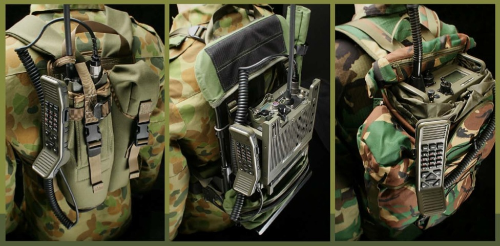 Tactical on two way radio case