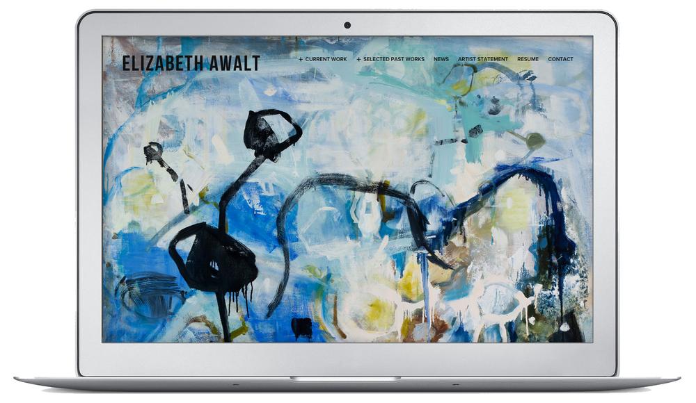 Elizabeth Awalt: Nature-based Abstract Paintings