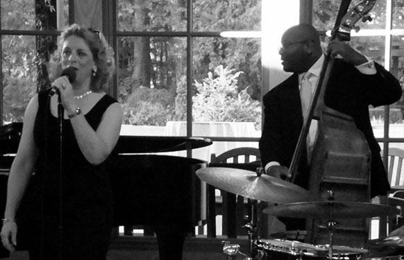 Ellen Ciompi with bassist John Brown