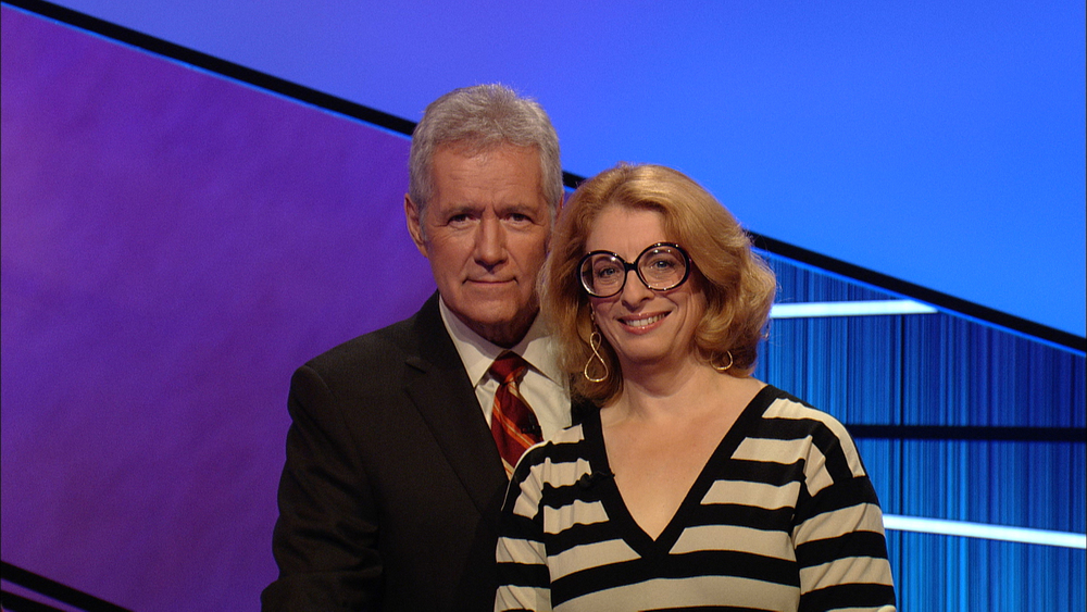Ellen & Alex Trebek!  Jeopardy, January, 2012