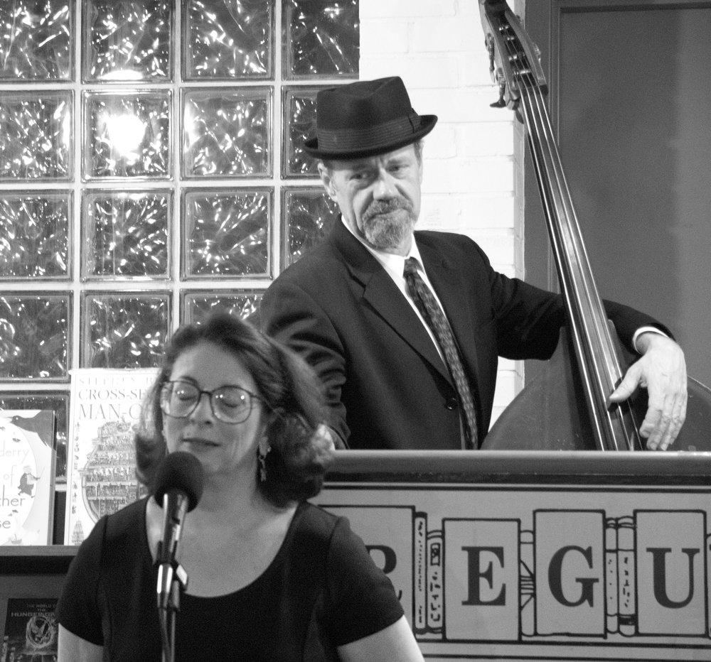 Ellen with bassist Ben Palmer