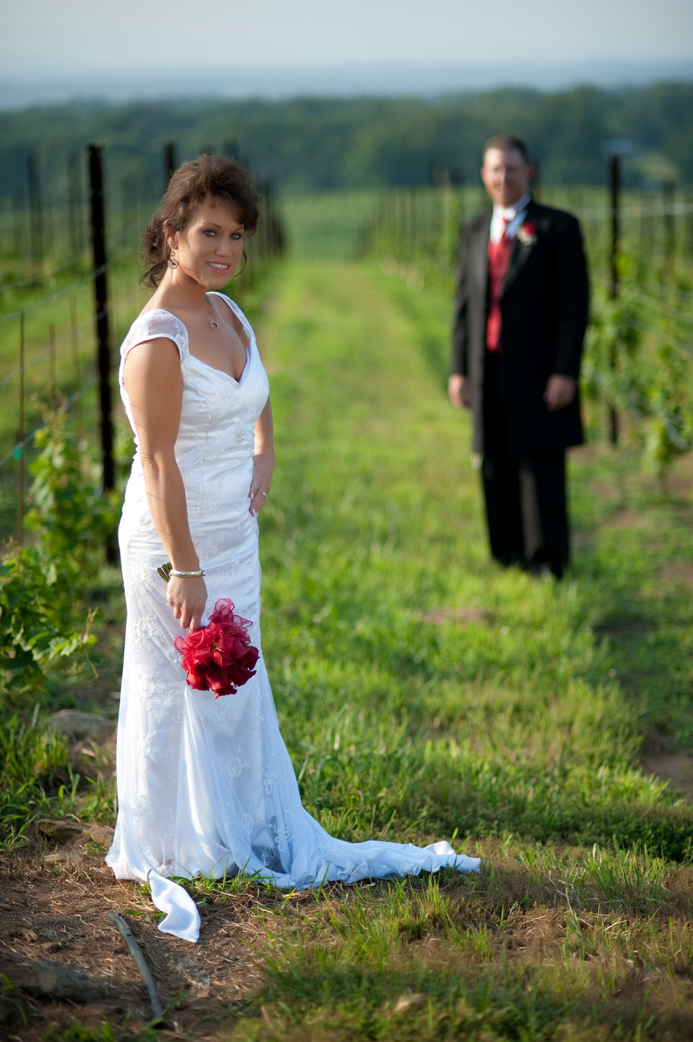 Bride and Groom at Raffaldini Winery, Kenneth Light Studios