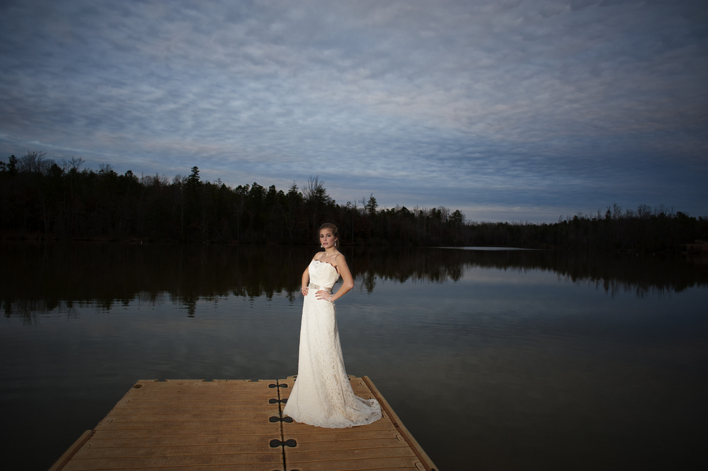 A Bridal Portrait by the Lake