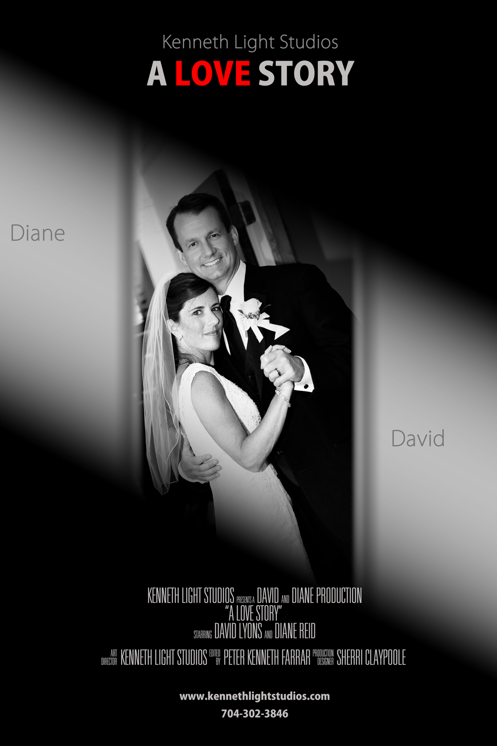 Movie Poster of First Dance for good friends, Basingstoke Wedding Photographers, Kenneth Light Studios