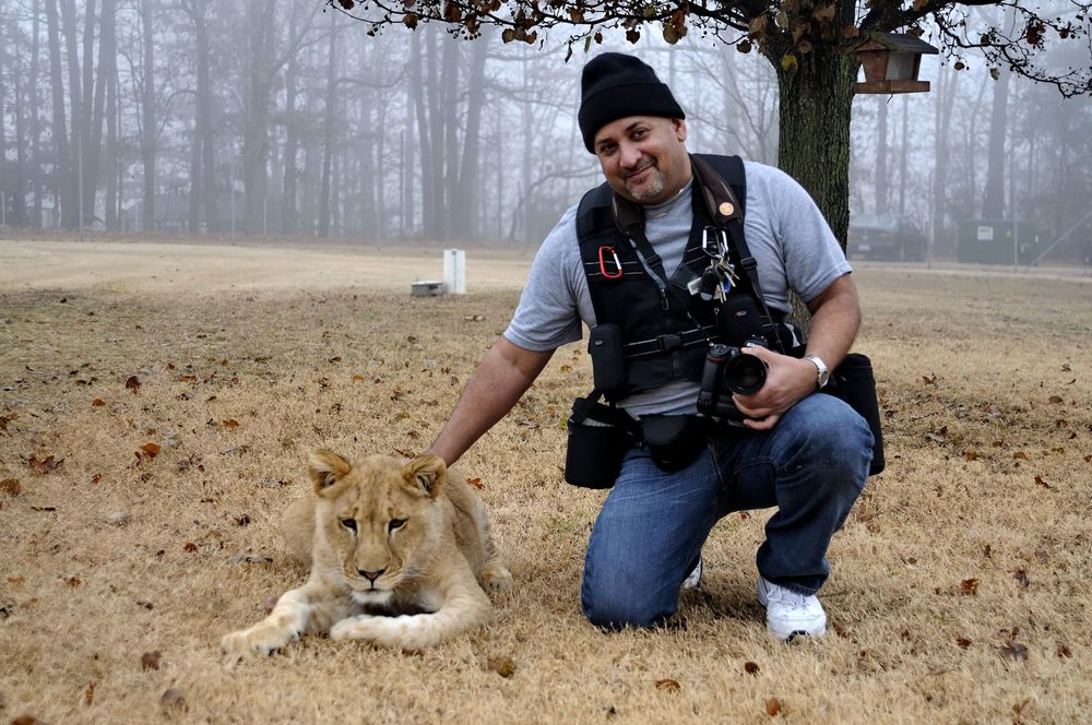 Your Wedding Photographer with Ellie, sadly she passed away about a year later, a very sweet lioness