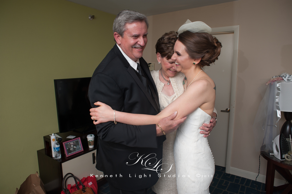 First look for Mother and father of the bride, always a special moment.