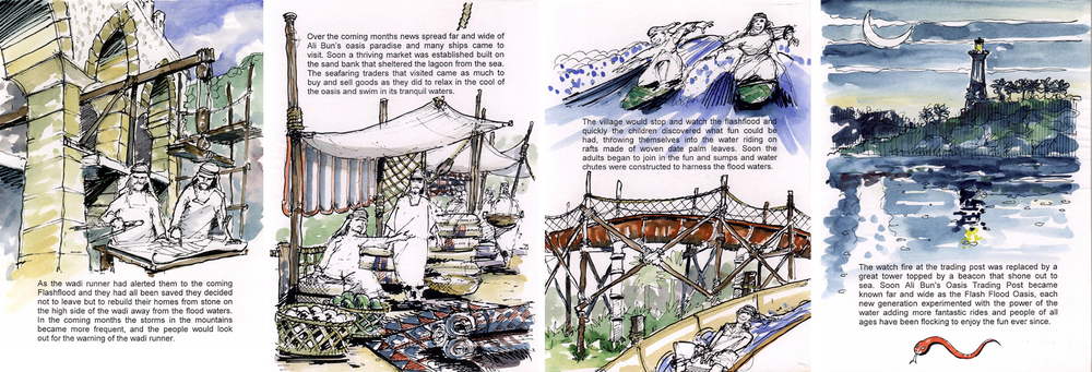 Original Wild Wadi story boards