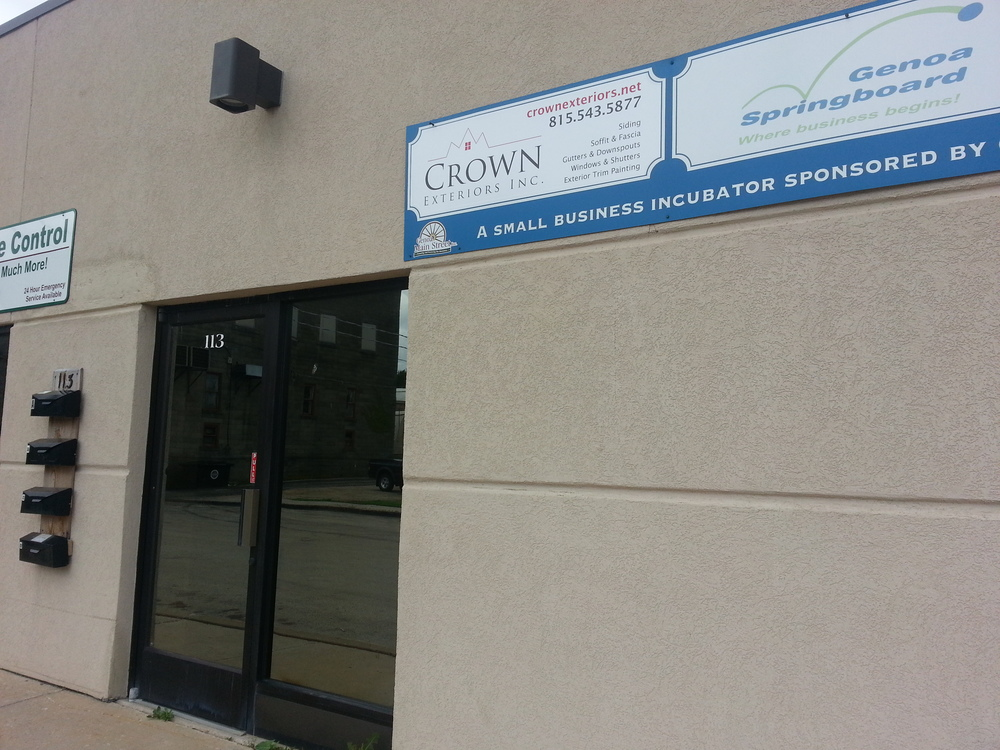 Crown Exteriors recently moved to beautiful downtown Genoa. Come visit us at 113 N. Genoa St., Ste. D!