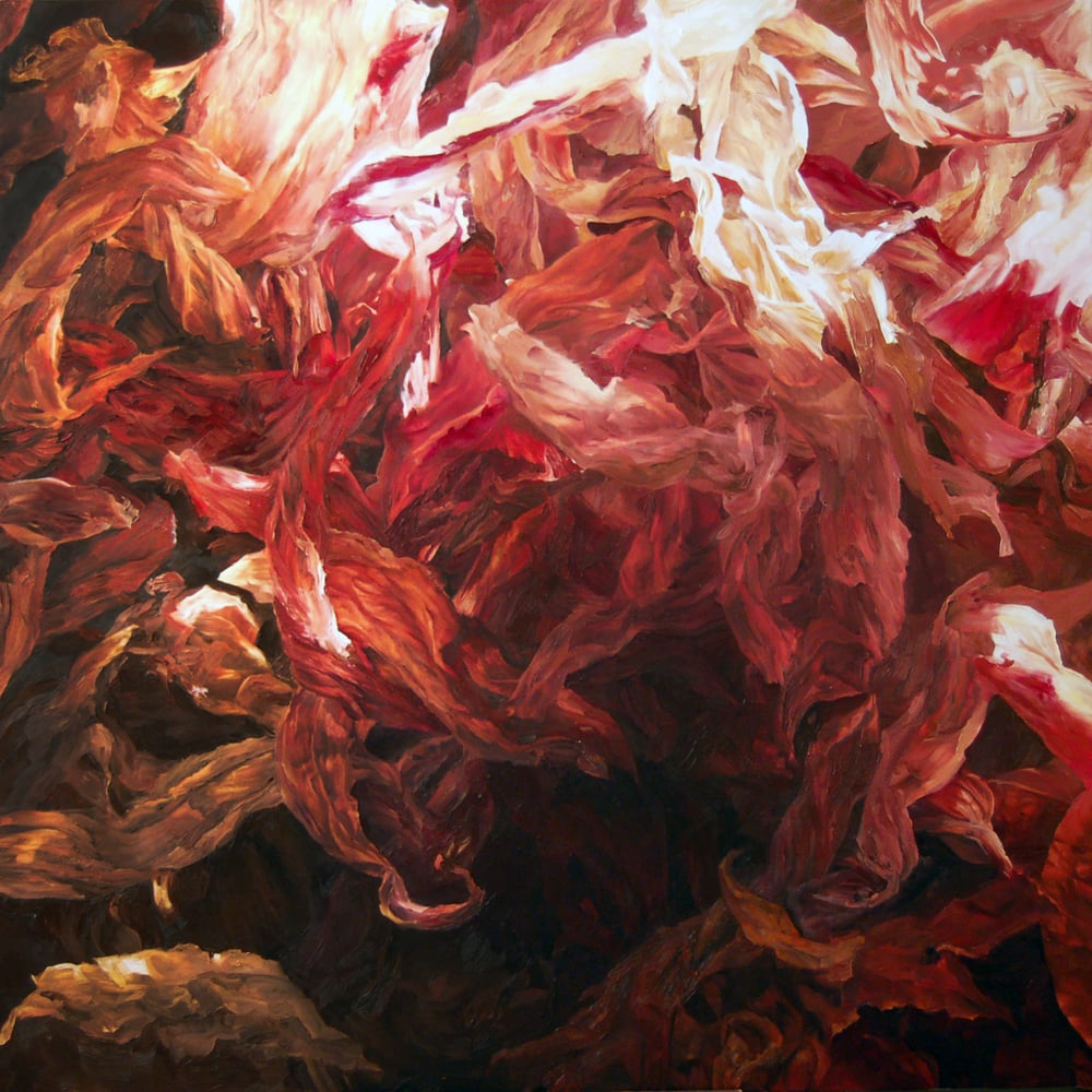 Red Ash of the Dark Solstice, Oil on Canvas, 2015, 54 x 54 inch.