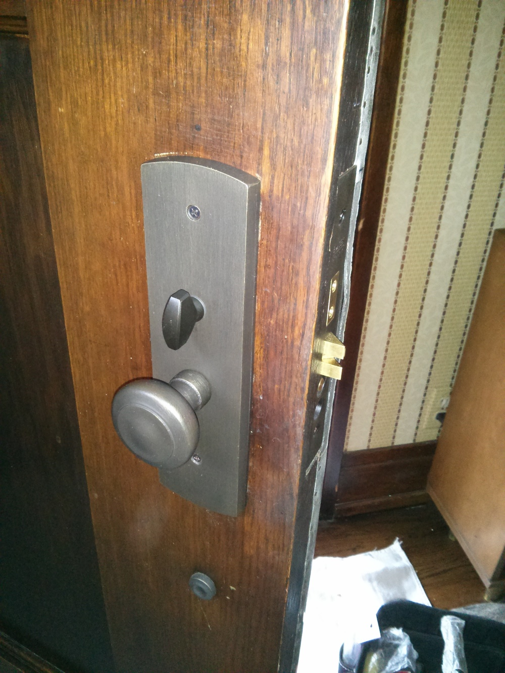 Front door lock replacement before and after replace for Front door replacement
