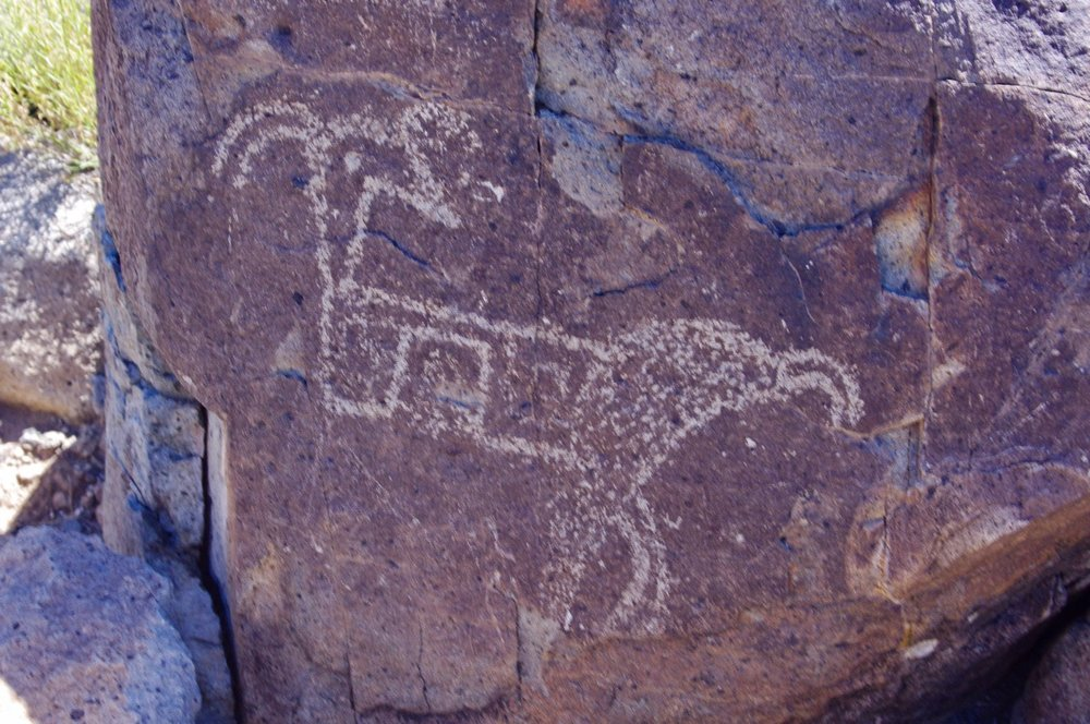 So most of you probably aren't impressed with this petroglyph, but my family members will immediately recognize it as Leopold the See-Through Crumb Picker. Leopold the See-Through Crumb Picker was one of the many books our mom read to us when we were little. I thought he was an original idea, but here he is in a 900 year old petroglyph. Wow!