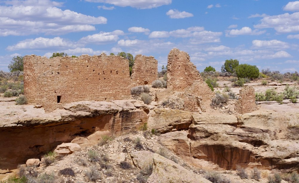 "This is the largest building in this particular complex, which is strewn along Little Ruin Canyon. There are several other canyons/pueblos in the vicinity, but they are harder to reach. This is at the head of the canyon, close to the ""seep"" that constitutes the permanent water source that supported these pueblos. It is called Hovenweep Castle."