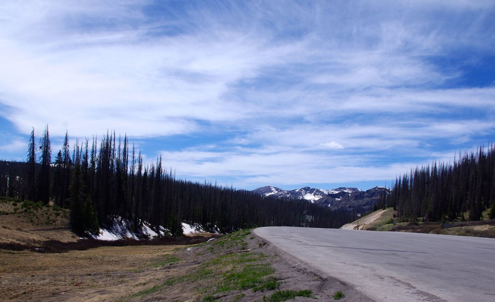 Here is the view from Wolf Creek pass