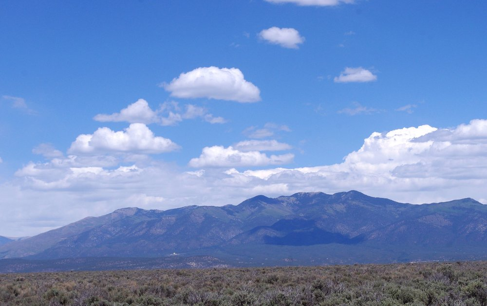 The rest of Rio Grande del Norte NM looked a lot like this…minus the cloud shadows.