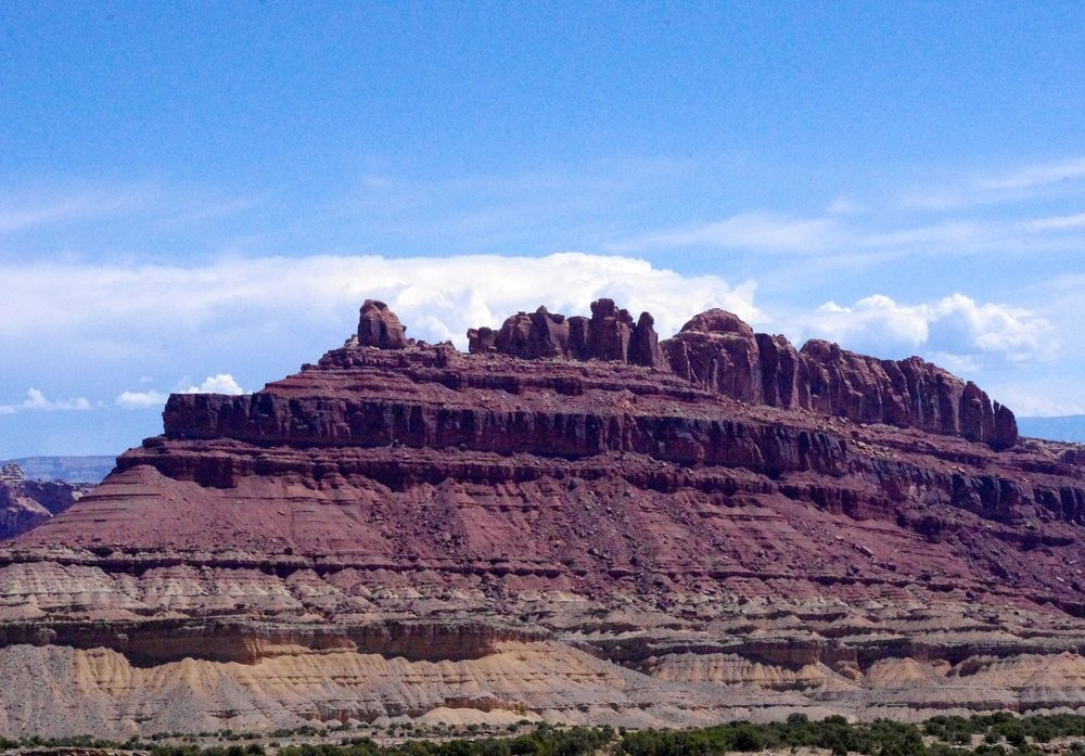 I call this photo the castle on a hill. It is typical of many southwestern desert-scapes, but it is very hard to resist photographing them because they are so beautiful.