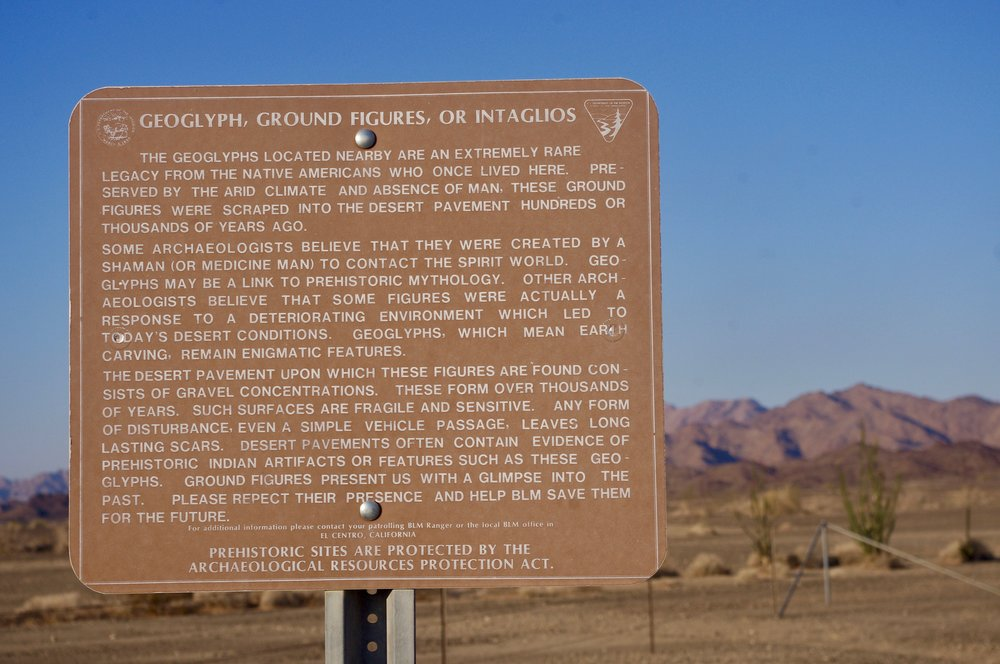 And here is the sign proving that there are, in fact, geoglyphs here.