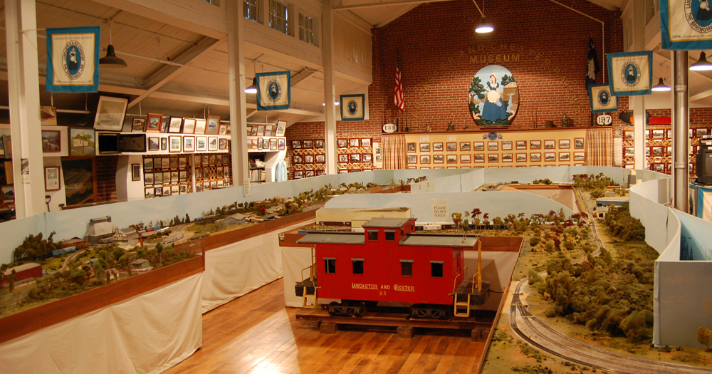 Inside the L&C Railroad Museum