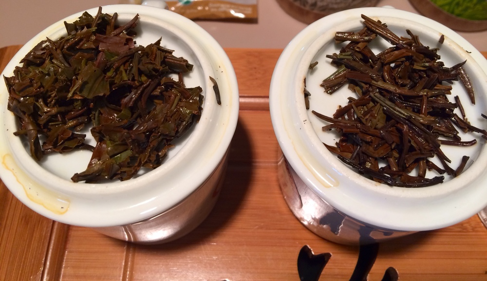 Left: oolong. Right: white.