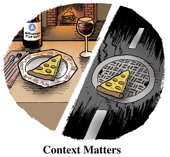 Pizza just isn't the same when I find it in the road. Thanks to AdExchange for the comic.